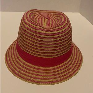 Papillon 100% Paper Pink and Tan Fedora Hat